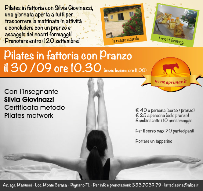 Evento 30 settembre ore 10.30 Pilates con pranzo